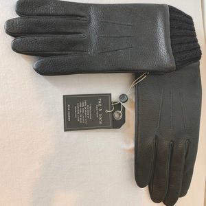 RAG & BONE New w/ tags Men's black leather gloves